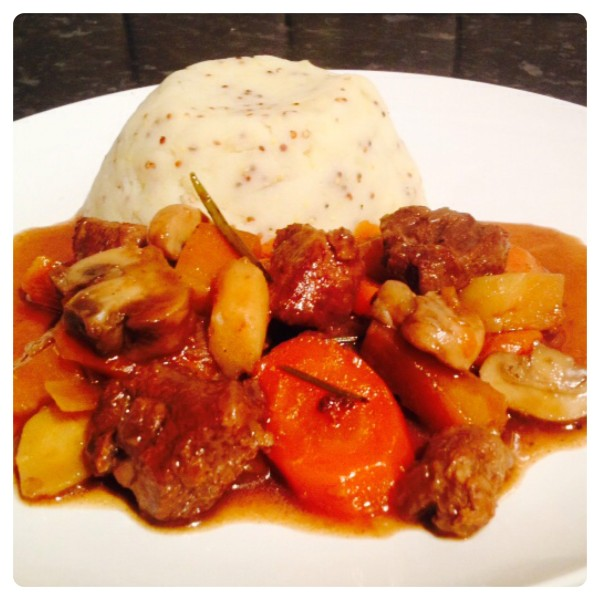 Beef and Ale Casserole with Mustard Mash