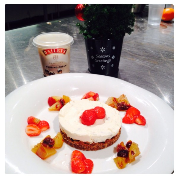 Festive Cheesecake with Baileys Pouring Cream