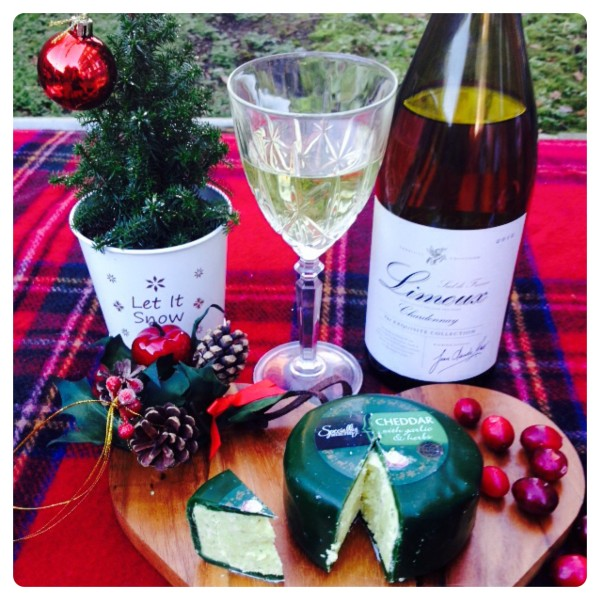 Exquisite Collection Limoux Chardonnay 2012 with Specially Selected Cheddar with Garlic and Herbs