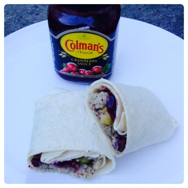Cranberry Stuffing Wrap with Colman's Cranberry Sauce