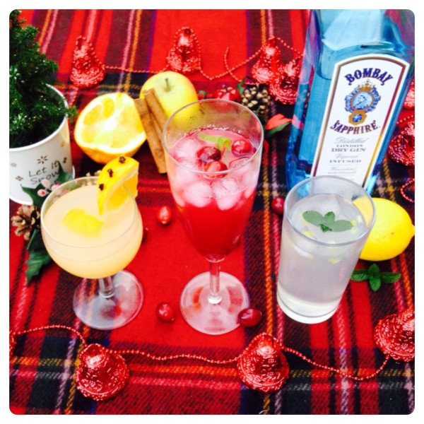 Christmas Gin Cocktails with Bombay Sapphire