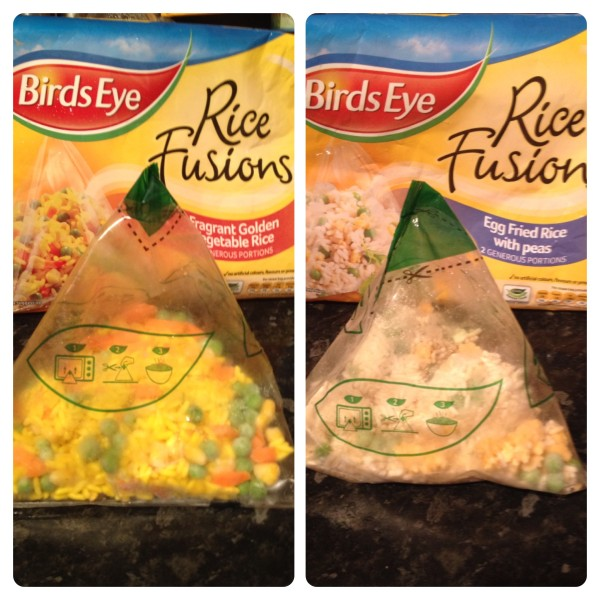 Birds Eye Rice Fusions: Egg Fried Rice and Fragrant Golden Rice