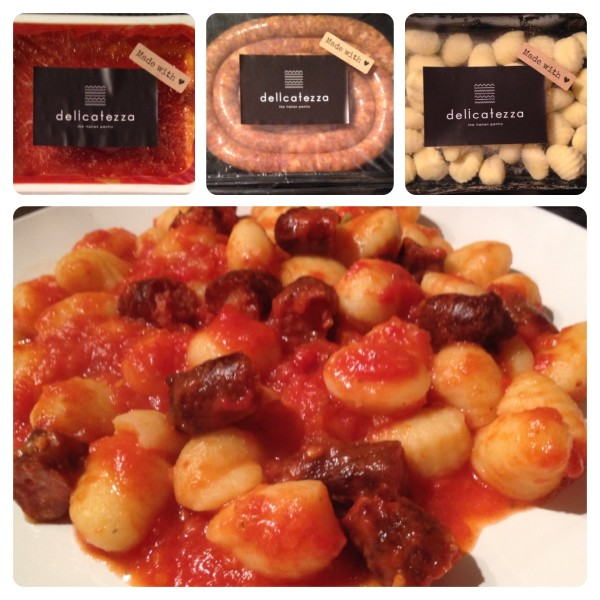 Potato Gnocchi with Pomodoro and  Lucanica