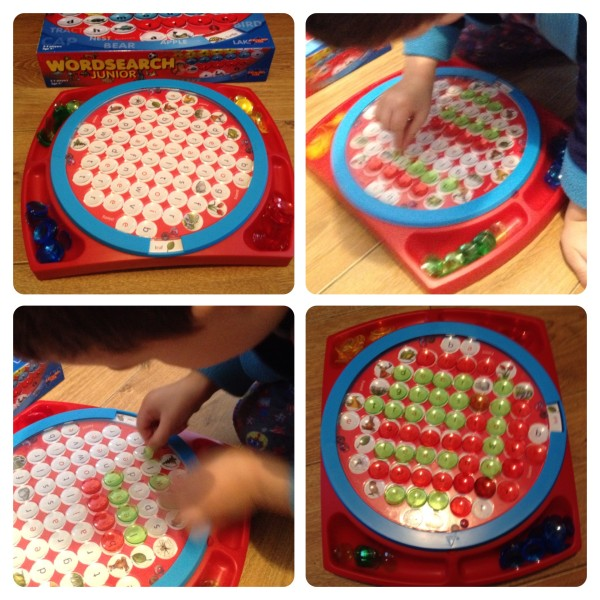 Little Man Playing with Wordsearch Junior