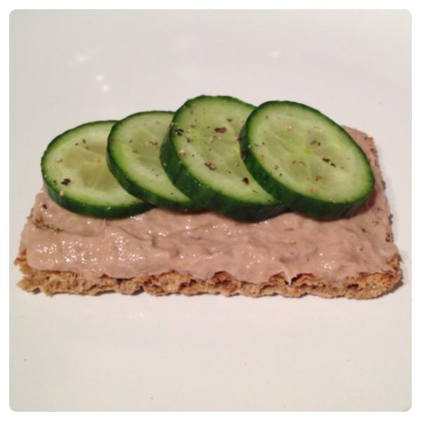 Tuna Mayo with Cucumber on Ryvita Sunflower Seed & Oat Cripsbread