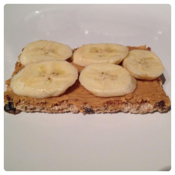 Peanut Butter & Banana on Ryvita Original Crispbread