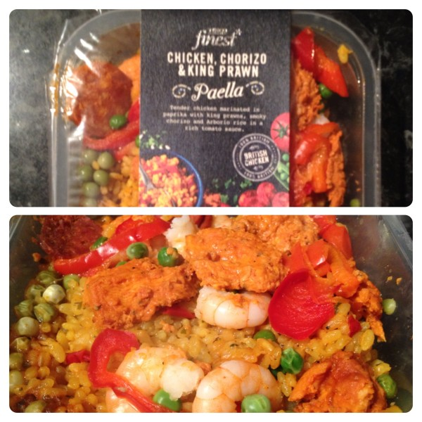 Tesco finest* Chicken, Chorizo and King Prawn Paella
