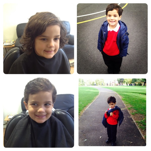 Little Man's Haircut and First Day at School