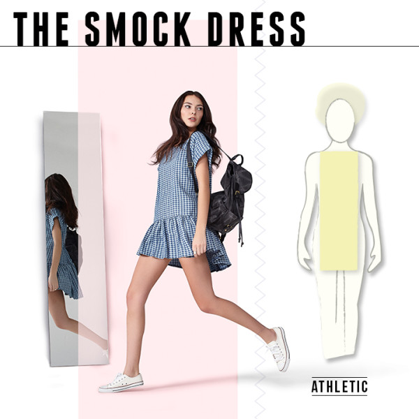 Boohoo: The Drop waist Smock Dress