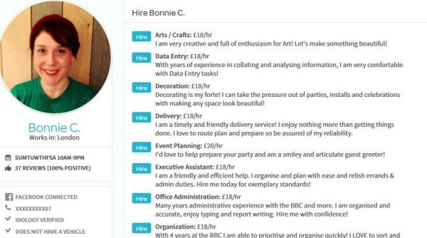 TaskRabbit: Bonnie's Profile