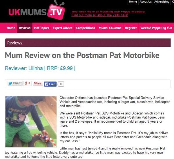 UKMumsTV - Postman Pat