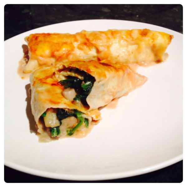 Pasta-Free Spinach and Mushroom Cannelloni