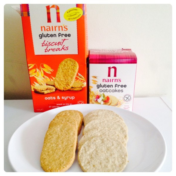 Snack: Nairn's Oat and Syrup Biscuits and Nairn's Oatcakes