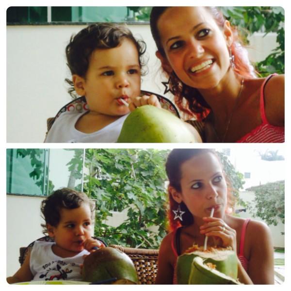 Enjoying Coconut Water in Brazil