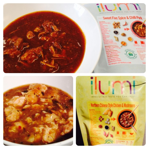 Ilumi Sweet Five Spice & Chilli Pork and Northern Chinese Style Chicken & Mushroom