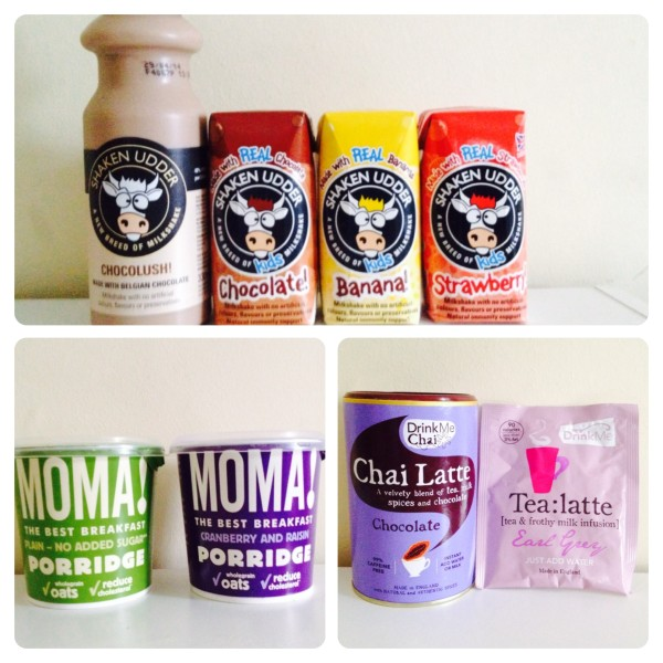 Shaken Udder Milkshakes, Moma! Porridge and Drink Me
