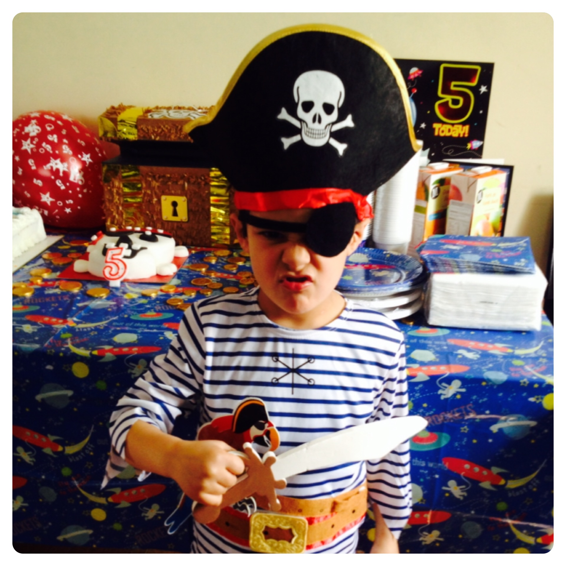Boys Pirate Themed Birthday Party