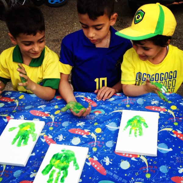 Brazilian Themed Handprints