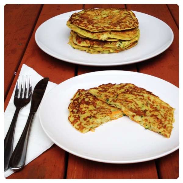 Courgette, Celery and Carrot Pancake