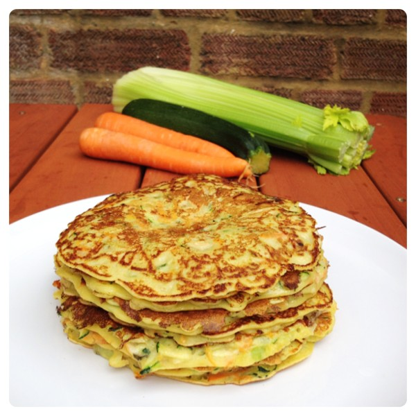 Light Family Lunch: Courgette, Celery and Carrot Pancake