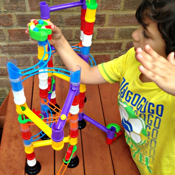 Having Fun with Quercetti Super Marble Run