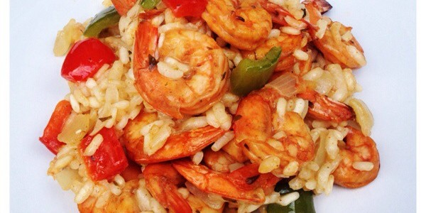 Prawn and Peppers Risotto