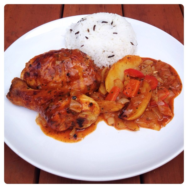 Piri Piri Chicken served with Rice