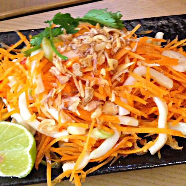 Ping Pong Specials: Citrus Squid, Carrot Salad