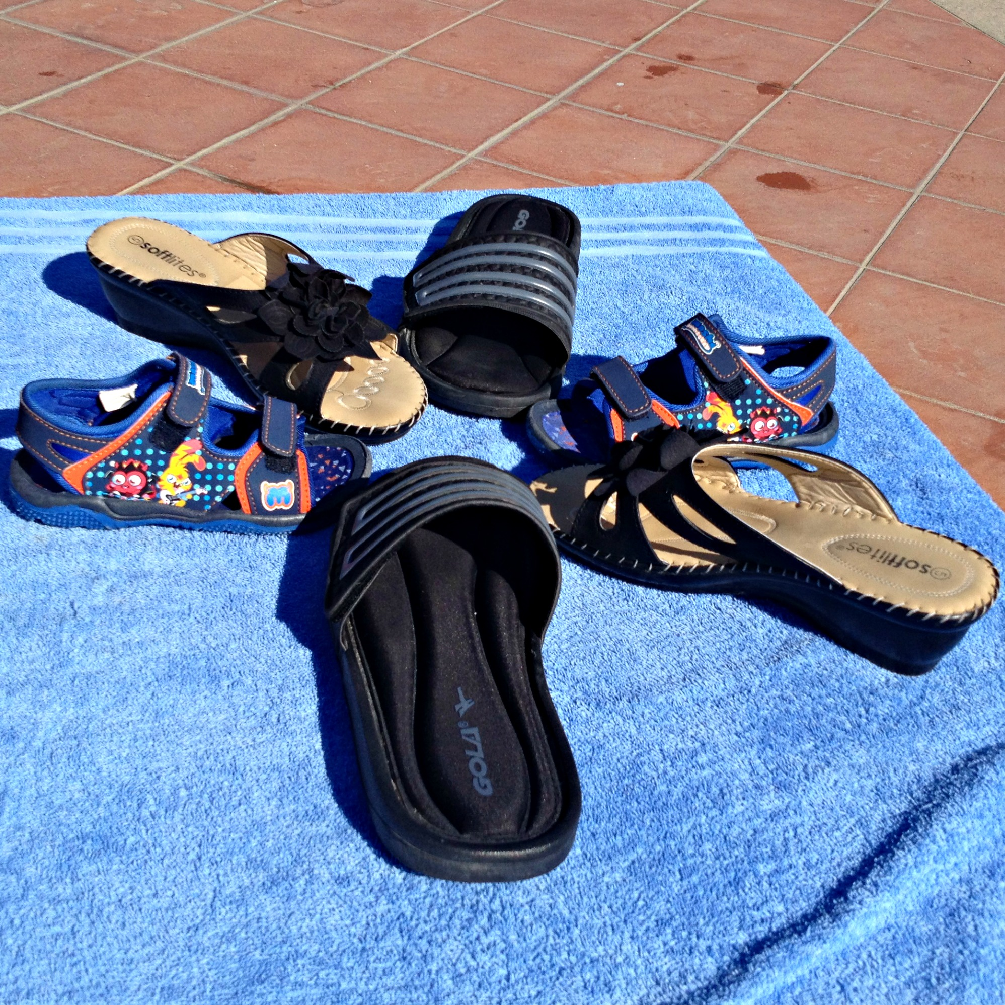 While on holiday, we tried Shoe Zone summer shoes, I had a gorgeous