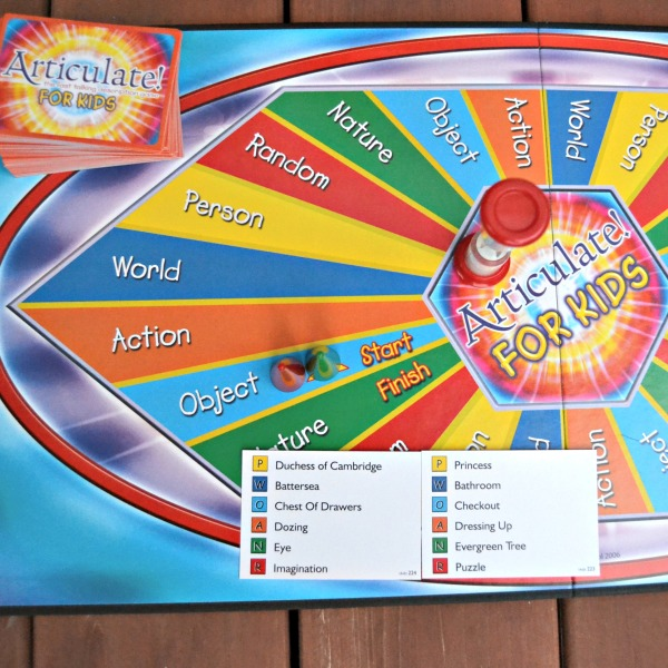 Articulate for Kids Board, Timer and Cards