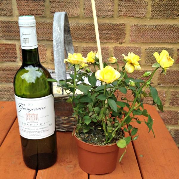 Serenata Flowers: Yellow Roses and Grangeneuve Bordeaux