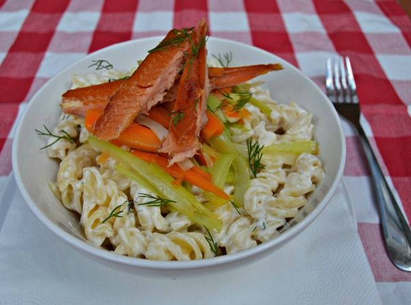 Fusilli with Smoked Trout Recipe