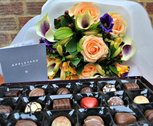 Blueberry Muffin Bouquet and Chocolates by Appleyard