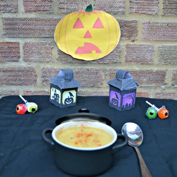 Halloween Pumpkin and Apple Soup