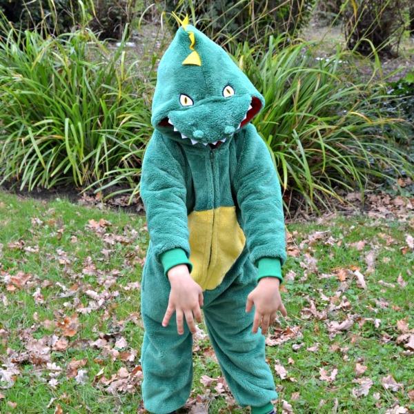 Yellow Mellon: Extra Thick Fleece Dinosaur Onesie