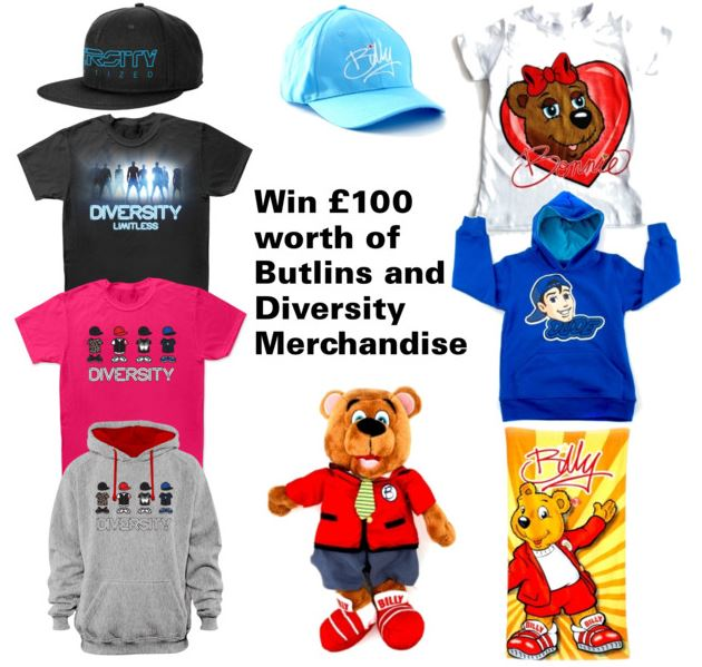 Win £100 Worth of Butlins and Diversity Merchandise