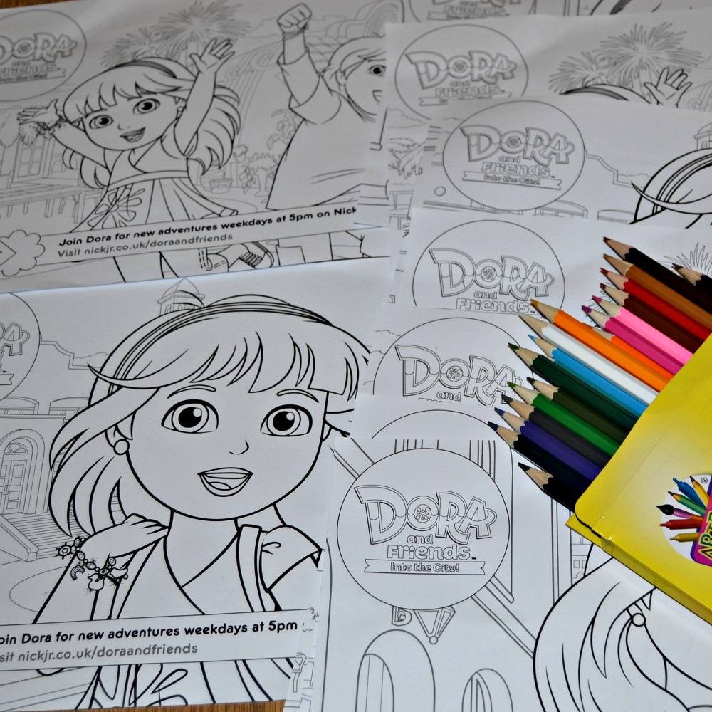 Dora And Friends Colouring Activities
