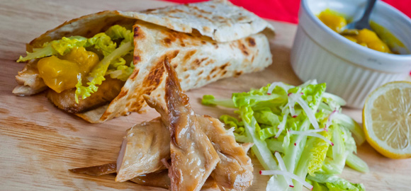Fish Recipe - Mackerel and Piccalilli Wrap