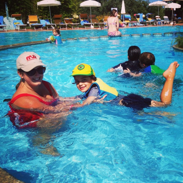 Swimming with Childcare Staff in Sardinia