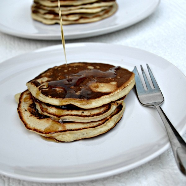 Healthy pancake day recipes blueberry chocolate protein pancake american pancakes with maple syrup forumfinder Images