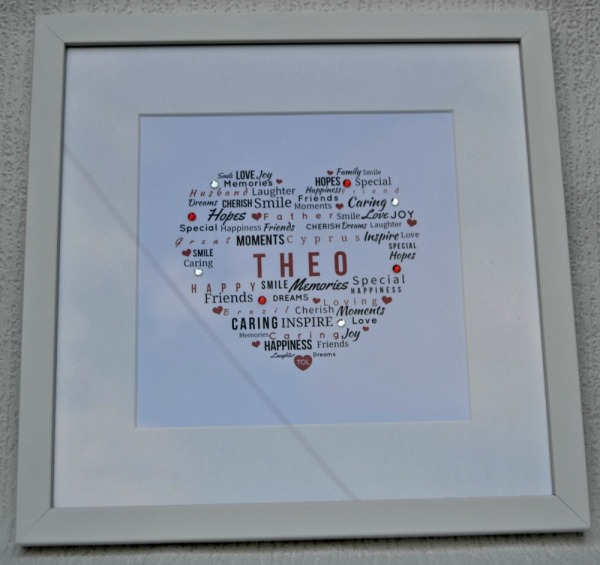 Personalised Typography of Love Gloss Frame by ToxicFox