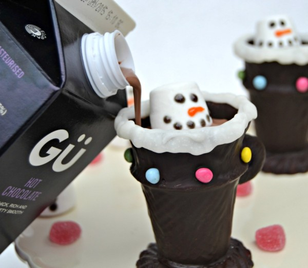 Gu Hot Chocolate on Edible Chocolate Cup