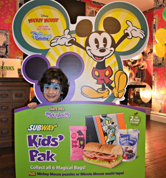 Fun And Healthy Lunch While Out And About Subway Mickey Mouse Kids