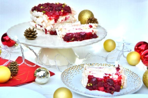 Luxury Raspberry and Pistachio Layered Pavlova