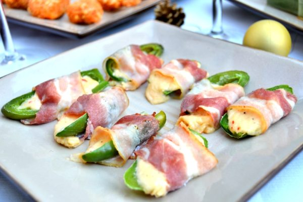 Cheesy Jalapenos Wrapped in Bacon