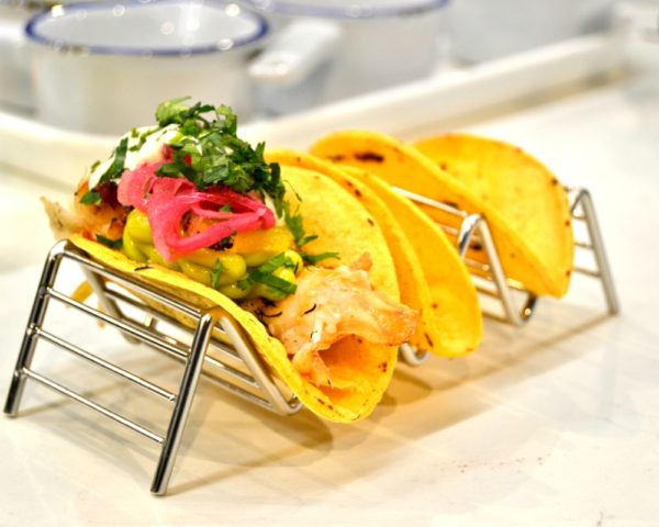 Smoked lobster tail tacos